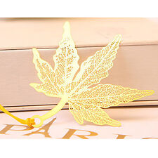 Gold Maple Leaf Leaves Metal Bookmarks For Books Book Markers Gift For Readers