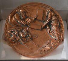 Studio Dante Volteradici Collector Plate Moses Receives the Law in Bronze