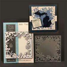 Dancing Snowflake Square Frame metal die 99582 Memory Box dies Christmas winter