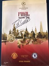 More details for champios league final signed programme moscow 2008 christiano ronaldo