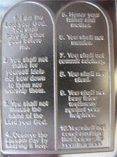 1-OZ ART BAR ENGRAVABLE THE TEN COMMANDMENTS PERFECT GIFT PURE SILVER .999 +GOLD