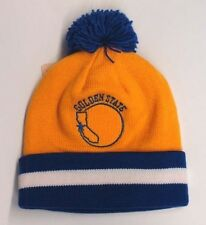 Golden State Warriors Mitchell & Ness Embroidered Pom Beanie Fold Cap
