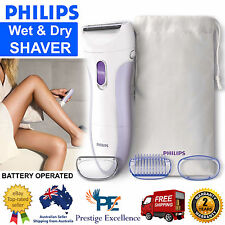 Philips Electric Shaver Cordless Body Hair Remover Groomer Wet Dry Women Shavers