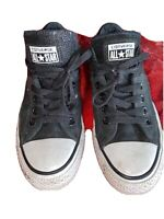 Converse All Star low top Sneakers Shoes  Black Glitter Canvas  Women's Size 7.