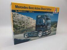 Italeri 3841 Mercedes Benz Actros Black Model Truck Kit 1/24
