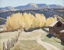 Road to the River, Mt. Carmel  : Maynard Dixon  :  circa 1940 :  Fine Art Print