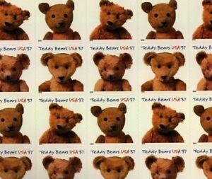 #3653-56 3656a Teddy Bears 37 cent full mint sheet of 20 MINT MNH