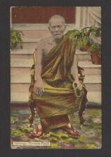 Burma - Hpoongyi Burmese Priest vintage color postcard