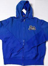 Polo Ralph Lauren faded blue full zip hoodie jacket letterman football patch L
