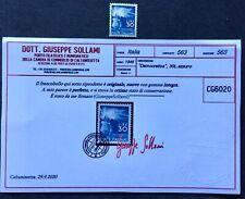 Repubblica 1945 democratica lite 30 mnh certificato ottimamente centrato