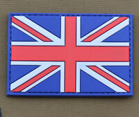 """PVC / Rubber Patch """"Full Color UK Flag"""" with VELCRO® brand hook"""