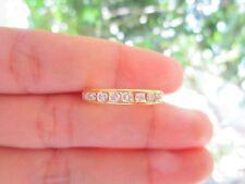 .98 Carat Diamond Yellow Gold Half Eternity Ring 14k sepvergara