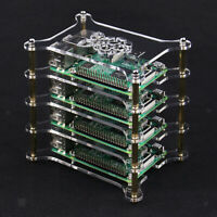 Acrylic Clear Case 4 Layer Complete Stackable Kit for Raspberry Pi 2/3 B /B+