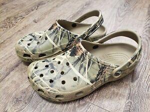 Crocs Men's Size 9 Women's 11 Camo Slip On Comfort Clog Sandals