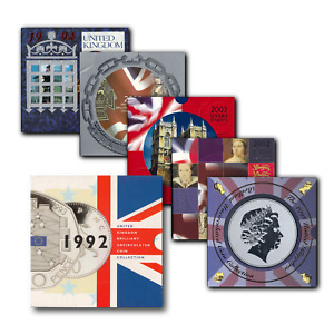 UK Brilliant Uncirculated Coin Sets 1982 to 2021 - Choose Your Year!