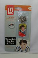 1D 1 Direction Dog Tag & Ball Chain Necklace - Louis - *New* Design #2