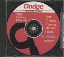 DODGE 1969 Charger/Dart/Super Bee Shop Manual CD 69