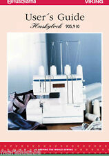Husqvarna Viking Huskylock 905 910 Instruction Manual / Users Guide PDF in color