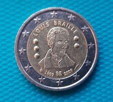 Pièce commémorative de 2 euros € : 2 € Belgique 2009 - Louis Braille