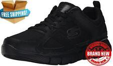 Skechers Sport Mens Equalizer 2.0 On Track Lace Up Sneaker All Black 10.5 4E US