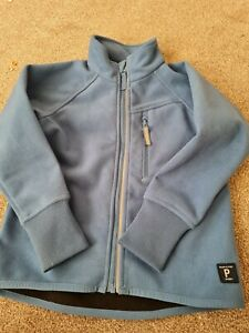Polarn o pyret navy fleece zip jacket 4-5 years