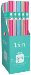 BUY 2 GET 1 FREE 1.5M PLAIN FASHION FOIL ROLLWRAP/ WRAPPING PAPER