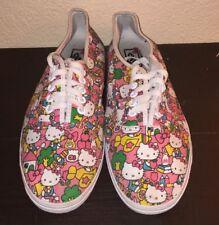 Vans pink Hello Kitty canvas tennis shoes skate shoe women's 10.5 Men's 9