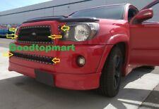 For Toyota Tacoma 05-10 Black Mesh Rivet Grille BoltOn Combo 3pc Top+1pc Bumper