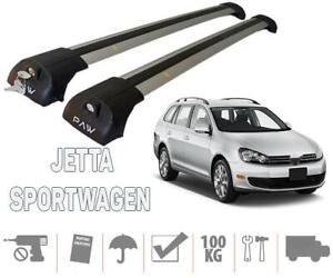 Volkswagen Jetta SportWagen Wagon Roof Rack Cross Bars Silver Color