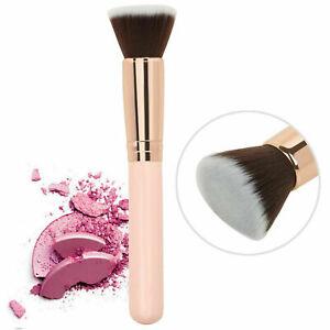 Rose Gold Makeup Foundation Brush Cosmetic Kabuki Blending Flat Top