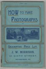 Scovill, Adams. How to Make Photographs Catalogue of Requisites. New York, 1891.