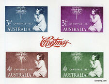 Australia Replica Card #7 1957 Christmas Stamps Die Proof