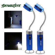 2pcs COB LED Flexible Lamp Flashlight Inspection Magnetic Work Desk Torch Light
