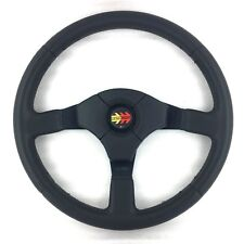 Genuine Momo D35 350mm leather steering wheel and Corse horn button.     7D