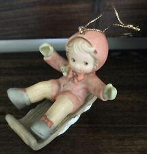 """Memories of Yesterday """"S'No Use Looking Back Now!"""" Christmas Ornament 1991 Nib"""
