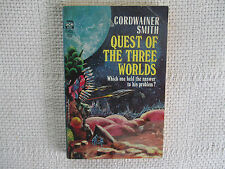 1966 Quest Of The Three Worlds Cordwainer Smith Ace F-402 paperback 1st ed FN/VF