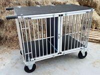 """Titan 1 & 2 Berth GIANT Aluminium Dog Show Trolley with 8"""" All Terrain Wheels"""