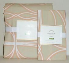 POTTERY BARN Aubrey Organic FULL/QUEEN Duvet Cover w/STANDARD Sham, NEW