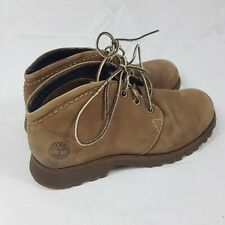 Timberland Brown Ankle Boots Suede Leather Lace Up Size UK 6