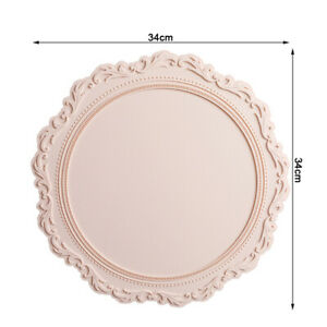 Silicone Round European Style Embossed Heat Insulation Table Mat Pattern Edge  S