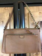 Fossil Mimi Top Zip Leather Clutch Camel Shoulder Bag SHB1138235 NWT$98.00