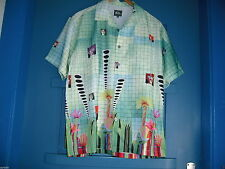Herren-Freizeithemden aus Polyester mit V-Ausschnitt