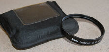 Nikon 5T two element close up lens with case - 2.9 diopter Macro 62mm diam