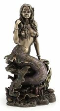 Lovely Mermaid Emily Sitting on Rock Figurine Statue Sculpture Mothers Day Gift