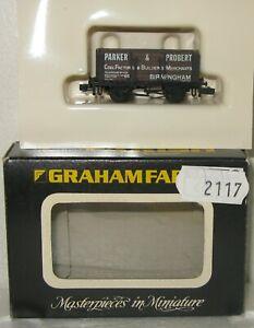 Graham Farish N Gauge 2117 10T Brown 6 Plank Wagon Parker & Probert Birmingham