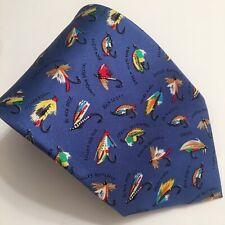 Alynn Neckwear Tie Blue Fly Fishing Lures XL 63