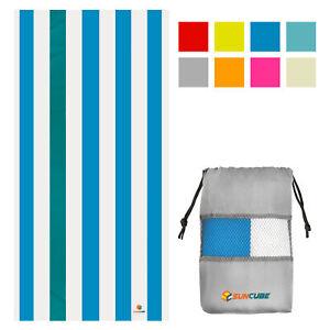 Microfiber Beach Towel Lightweight Quick Dry Pool Swim Travel Gym Compact Towel
