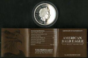 Tuvalu Coin 2014 American Bald Eagle 5oz Silver MIB NO RESERVE!