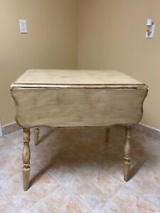 Refurbished Drop Down Leaf Table With Matching Shelf