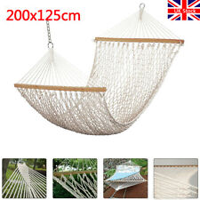 More details for cotton rope hammock garden hammock mesh net hang rope travel camp outdoor swing